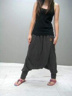 Zoku ninja pant grey brown color by thaitee on Etsy, $37.00