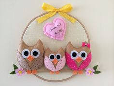 Keçe Baykuş Kapı Süsleri | Melekler Mekanı FORUM Felt Crafts Diy, Owl Crafts, Diy Crafts For Gifts, Felt Diy, Hobbies And Crafts, Fabric Crafts, Kids Crafts, Birdhouse Craft, Felt Wreath