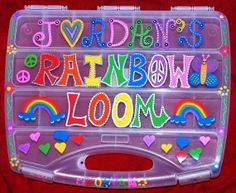 Personalized CLEAR DELUXE large  Rainbow Loom by AllisonsLoomCases, $68.00