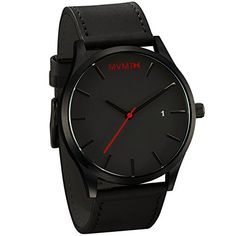 MVMT Watches Black Face with Black Leather Strap Men's Wa... https://www.amazon.com/dp/B00IAVVALY/ref=cm_sw_r_pi_dp_x_KtjSxbABA2K59
