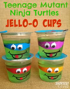 Teenage Mutant Ninja Turtles Jell-O Cups