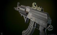 ArtStation - AK-47 Draco Custom, Ilya Chernobrov