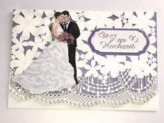 Hochzeitskarten - Karte zur Hochzeit Nr. 578 - ein Designerstück von MM-Bastelparadies bei DaWanda Elegant, Wedding Dresses, Etsy, Newlyweds, Things To Do, Gifts, Crafting, Classy, Bride Dresses