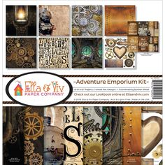 "Reminisce Ella & Viv Collection Kit 12""X12""-Adventure Emporium"