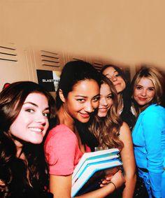 Lucy, Shay, Sasha, Troian and Ashley