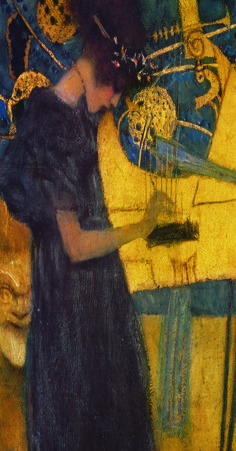 Gustav Klimt - Music (detail)                                                                                                                                                     More