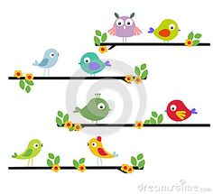 Cartoon bird on a tree by Sunlight789, via Dreamstime