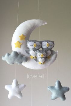 Baby mobile – Owl mobile – Crib Mobile Owl – Baby Mobile Stars Baby mobile Owl mobile Crib Mobile Owl Baby by lovefeltmobiles Felt Crafts, Diy And Crafts, Owl Mobile, Cool Baby, Diy Y Manualidades, Baby Owls, Owl Baby Rooms, Baby Care, Diy Baby