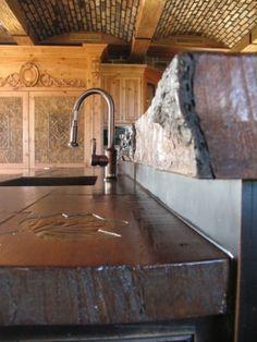 WoodForm Cast Concrete countertops