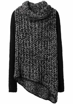 """Helmut Lang """"alexia dives posted Helmut Lang / Funnel Neck Sweater / gimme dat to their -knits and kits- postboard via the Juxtapost bookmarklet. Long Jumpers, Petite Sweaters, Petite Tops, Long Sweaters, Loose Sweater, Sweater Shop, Grey Sweater, Helmut Lang, Stripes"""