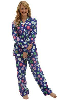 b3da0084dbae Del Rossa Women s Cotton Flannel Pj Set – Long Pajamas