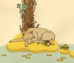 wolf island by animalsleep on Etsy, $40.00