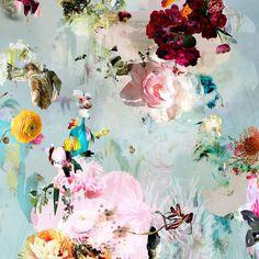 Isabelle Menin - New Rome #9- Floral landscape soft pastel color contemporary photograph