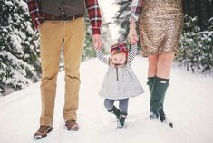 Make your Christmas photo shoot super casual + just go for a stroll in the snow.
