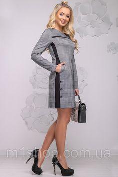 Женское асимметричное платье в клетку (2776-2775-2777 svt) купить недорого  Украина 3ae33352296af