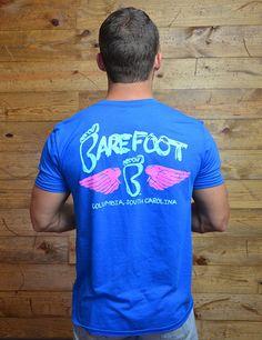 Light blue + seafoam green + hot pink = cute wing tee for Columbia, South Carolina!