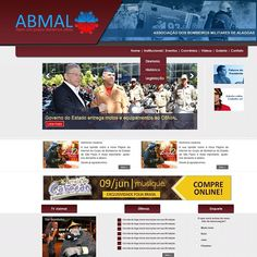 Website ABMAL Associação dos Bombeiros de Alagoas - portifolio 2012 #website #portifolio