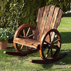 Garten-Schaukelstuhl Wagenrad