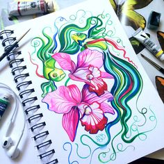 The watercolor sketchbook below is byAnna Bucciarelli, she isa freelance illustrator currently living and working in Toronto, Canada. Her watercolor sket