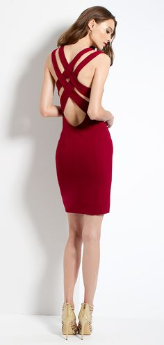 X-Back Sheath Dress
