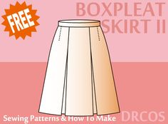 Boxpleatskirt sewing patterns & how to make