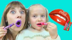 Little Babies Learn Colors with Lipstick - YouTube