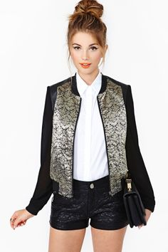 Dusted Bomber Jacket - Absolutely love this jacket
