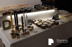 Domino. candleholders designed by Hanna-Marie Naukkarinen, Niko Hakala and Marianne Mäensivu