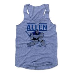 Jake Allen Play K St. Louis Officially Licensed NHLPA Womens Tank Top S-XL