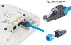 Panduit TX6A, Category 6A UTP Field Term RJ45 Plug FP6X88MTG https://www.panduit.com/en/products/copper-systems/connectors/modular-plugs/fp6x88mtg.html