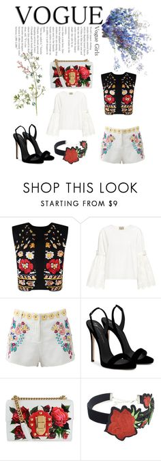 """Vogue style🤗"" by robydeea ❤ liked on Polyvore featuring Nasty Gal, Sea, New York, Antik Batik, Giuseppe Zanotti, Dolce&Gabbana and WithChic"