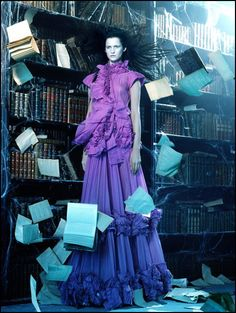 .Two of my favorite things, books & purple!