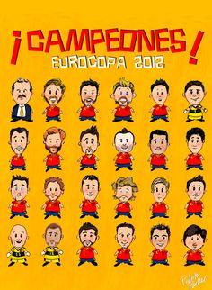 Spanish Soccer Team Eurocup 2012
