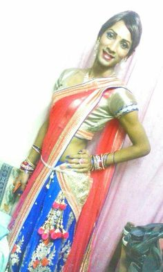 Cute Indian crossdresser in saree Indian Crossdresser, Crossdressers, Transgender, Sari, Asian, Cute, How To Wear, Collection, Saree