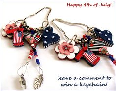 Blog Candy - 4th of July polymer clay giveaway gifts
