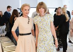 #CarolinaHerrera and #AnnaWintour at the @cfda / @Vogue fashion fund finalist Q&A