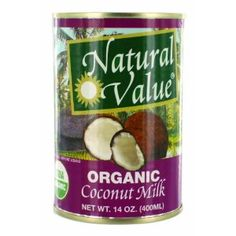 Natural Value Organic Coconut Milk, 14 Ounce Cans (Pack of 12) (Grocery)