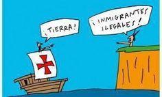 Humor grafico - Colón. Inmigrantes ilegales