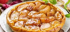 The Tarte Tatin originated in Sologne under unconventional circumstances. Florence Derrick investigates the story behind this classic French dessert. Köstliche Desserts, Delicious Desserts, Dessert Recipes, Classic French Desserts, French Food, French Recipes, Tarte Tartin, Meet Recipe, Apple Torte