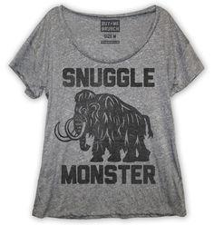 snuggle monster loose fit tee