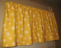 NEW Window CURTAIN Valance Premier Prints Corn Yellow Dandelion. $29.00, via Etsy.
