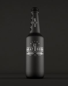 Packaging design for 'Black Beat Beer' by Kevin Harald Campean