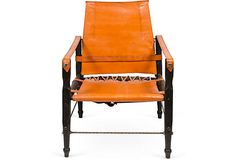 Leather Campaign Chair, Orange on OneKingsLane.com