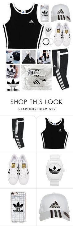"""""""Adidas Style - Izzy"""" by see-starxs-above ❤ liked on Polyvore featuring adidas, adidas Originals, Casetify, Lokai and starxsstyle"""