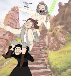 """By sessshoumaru: """" """"Draw the squad like this """" """" Poor Rey """""""
