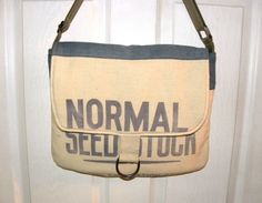 Vintage Normal Foundation seed sack upcycled by LoriesBags on Etsy