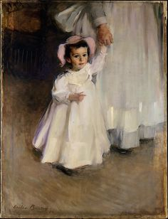 Ernesta (Child with Nurse) is an Impressionist Oil on Canvas Painting created by Cecilia Beaux in It lives at the Metropolitan Museum of Art in New York. The image is in the Public Domain, and tagged Children. Women Artist, Belle Epoque, Art Gallery, Painting Gallery, Illustrations, Illustration Art, Edgar Degas, Mother And Child, Beautiful Paintings