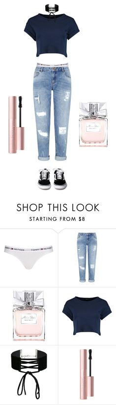 """IDK"" by leoni-benard on Polyvore featuring mode, Topshop, Miss Selfridge, Christian Dior, Boohoo et Too Faced Cosmetics"