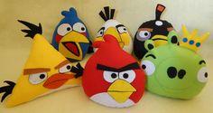 Kit Angry Birds em feltro - 20cm | JU ARTES E MIMOS | Elo7
