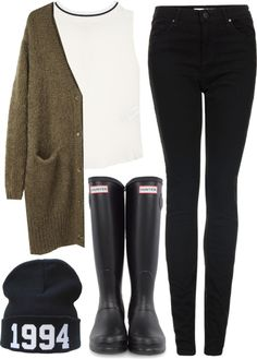 Untitled #564 by lovelyfashionstuff featuring hunter boots